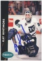 Kay Whitmore Hartford Whalers 1991 Parkhurst Autographed Card. This item comes with a certificate of authenticity from Autograph-Sports. Autographed -
