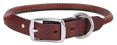 Weaver Leather Briarwood Rolled Collar, 3/4 x 17-Inch, Brown