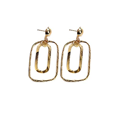 TUU Vintage Personality Acrylic Geometric Rectangular Earrings - Be Yourself - 2 Colors (Coffee) ()