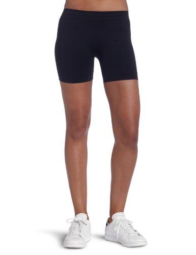 Bollé Women's Mesh Panel Seamless Tennis Short, Black, X-Large (Short Tennis Seamless)