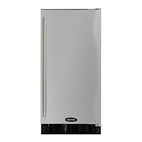 AGA Marvel 3OiMT-SS-F-L Outdoor Clear Ice Machine, Stainless Steel Cabinet and Left Hinge Stainless Steel Door, - Auto Defrost Left Hinge