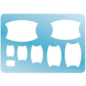 Cool Tools - Jewelry Shape Template - Shield 4