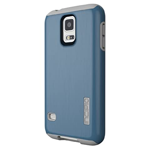 Incipio DualPro Shine Case for Samsung Galaxy S5 - Retail Packaging - Navy/Gray (Incipio Phone Case For Galaxy S5)