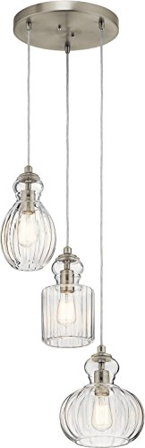 (Kichler Lighting 43952NI Three Light Pendant from The Riviera Collection)