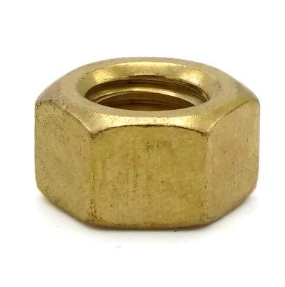 Hex Finish Nuts Brass - 3/8''-16 (9/16'' Flats x 21/64'' Thick) Qty-1,000