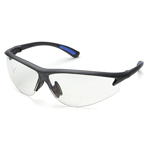Bifocal Safety Glasses in Polycarbonate Clear Lens +3.0 Diop