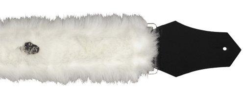 Get'm Get'm Wear 2-Inch Guitar Strap (White Faux Fur)