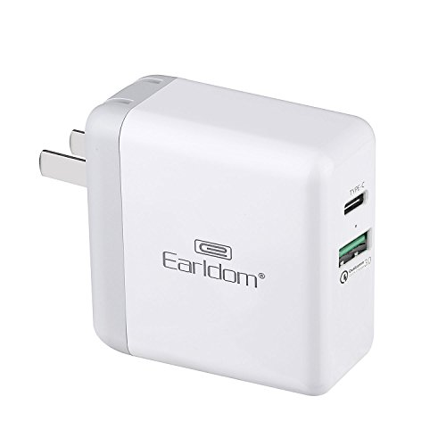 USB Type C Charger with 5V/3A USB C & Quick Charge 3.0 Compatible Google Pixel / Pixel XL / Nexus 5x / 6p,Lumia 950xl 950,Nintendo Switch, Samsung Galaxy S5 S6 S7 Note 8 / S8 / S8 Plus /Edge and More