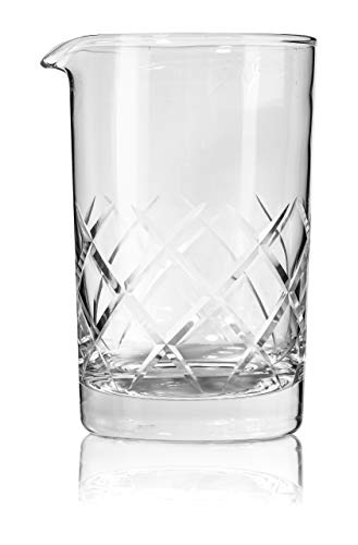 Bezrat Thick Bottom Cocktail Mixing Bar Glass, Make Your Own Specialty Cocktails 24OZ/700ML