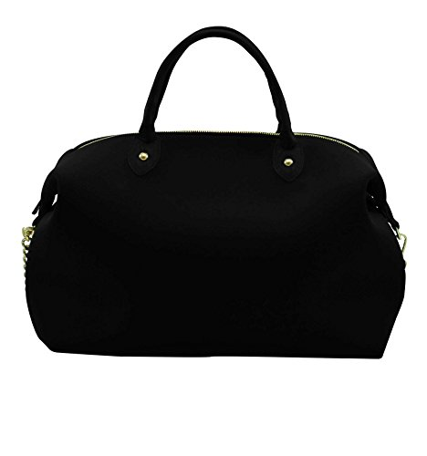 Borsa Bauletto Large In Neoprene Con Iniziali - nero, M