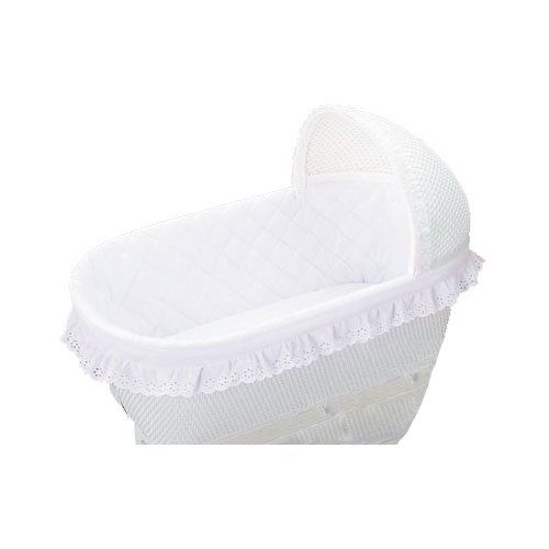 bkb Bassinet Bumper, White 16