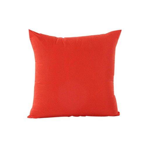 New Kimanli Home Decor Pillow Case Cotton Linen Cushion Cover Stripe (Orange) hot sale