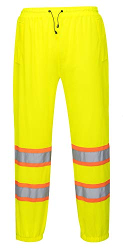 Mesh Overpants for Men and Women - General Work Wear - Ansi Class E, High Visibility (Large/Extra Large, Yellow)