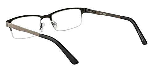 Eyecedar Metal Half-Frame Reading Glasses Men 5-Pack Spring Hinges Stainless Steel Material Includes 5-Cloth Pouch And Sun Readers 1.50 by eyecedar (Image #4)
