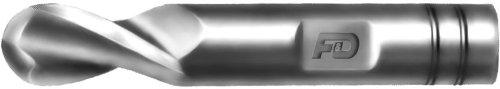 T-15 Cobalt Steel 3//4 Shank Diameter 3.875 Overall Length 1.625 Flute Length Single End 3//4 Mill Diameter F/&D Tool Company 19158-TXV1132 Two Flute Cobalt Ball Nose End Mill