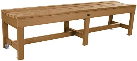 Sequoia Professional CM-BENSQ61-TFE Commercial Grade Weldon 6ft Backless Picnic Bench, Toffee