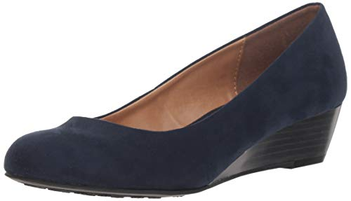 CL by Chinese Laundry Women's Marcie Wedge Pump, Indigo Super Suede, 7 M US - Indigo Suede Heels