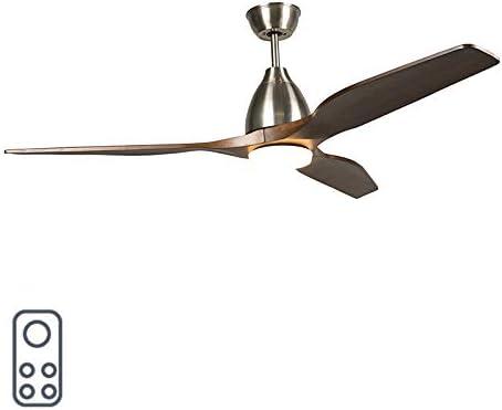QAZQA Moderno Ventilador madera LED mando-a-distancia - LEVANT 52 ...