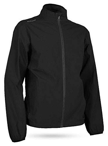 Sun Mountain Mens Monsoon Packable Rain Jacket Black M ()