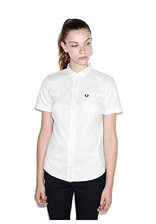 Sleeve Fred Size Oxford White Uk10 Perry Amazon Short Shirt uk co n6Sxwt6Z