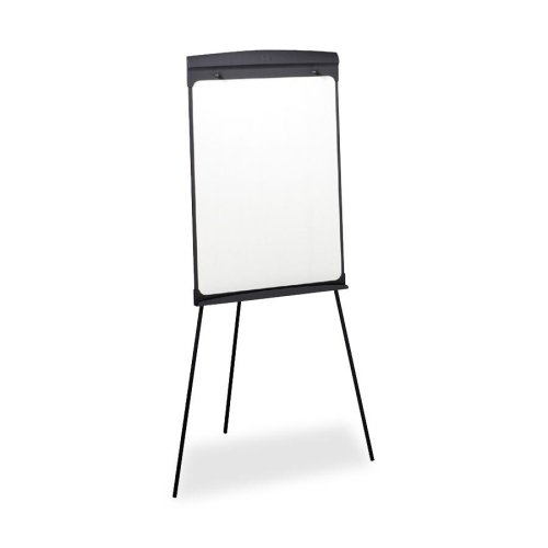 Wholesale CASE of 2 - Quartet Contemporary Tripod Style Easel-Presentation Easel,w/27''x35'' Magnetic Board,42'' to70''H,Black