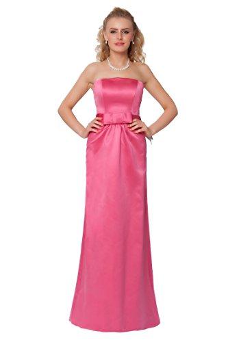 SEXYHER Gorgeous Full Length Strapless Bridesmaids Formal Evening Dress - EDJ1460 Magenta