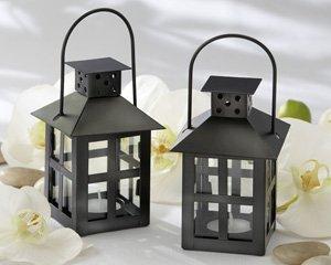 Luminous Black Mini-Lantern Tea Light Holder - Set of 50
