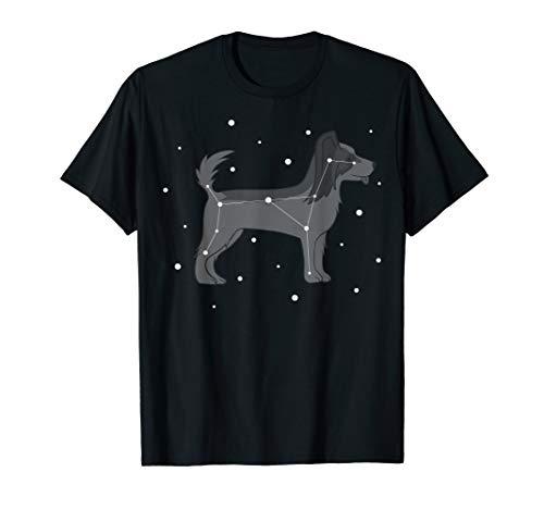 Funny Papillon Constellation T-Shirt Dog Tee