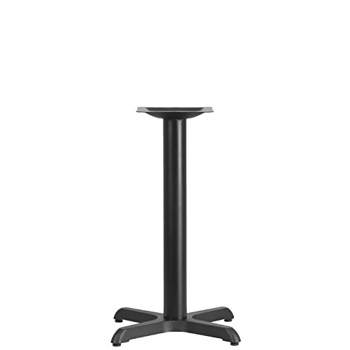 Iron Bar Table Base - Flash Furniture 22'' x 22'' Restaurant Table X-Base with 3'' Dia. Table Height Column