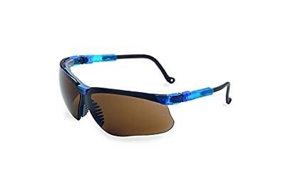 Uvex S3241 Genesis Safety Eyewear, Vapor Blue Frame, Espresso Ultra-Dura Hardcoat Lens