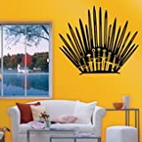 Enthrone Fence Label Throne Wall Art - Game Props Throne Stickers Carved Wall Stickers Toilet Stickers - Pot Paries Stool Palisade Gummed Potty Rampart Crapper Bulwark - 1PCs