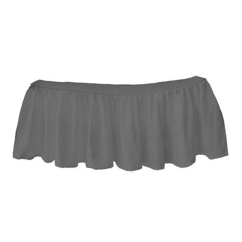bkb Solid Ruffled Mini Crib Skirt, Grey by bkb