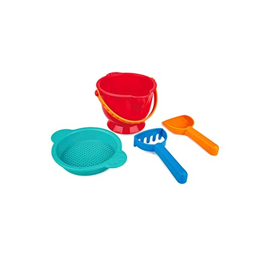 LIUFS-Toy Adventure Children's Beach Toy Set 2-6 Years Old Bucket Hour Combination (Color : Red, Size : M)