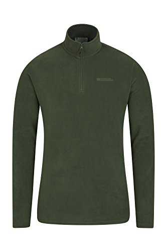 Mountain Warehouse Mens Camber Fleece   Half Zip Warm Jacket Green Large