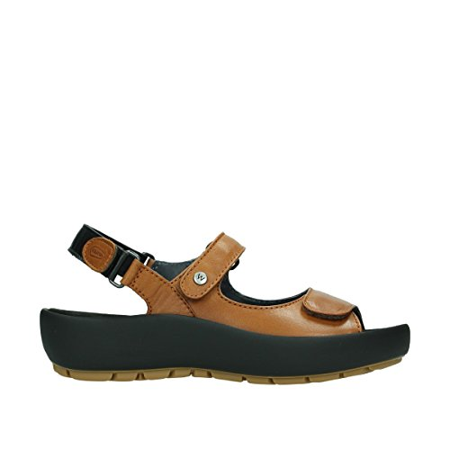 Wolky Womens 3325 Rio Leather Sandals 243 cognac leather