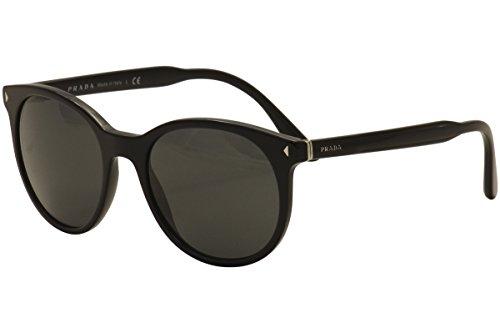 Prada PR06TS 1AB5S0 Black PR06TS Round Sunglasses Lens Category 3 Size - Prada Round Glasses