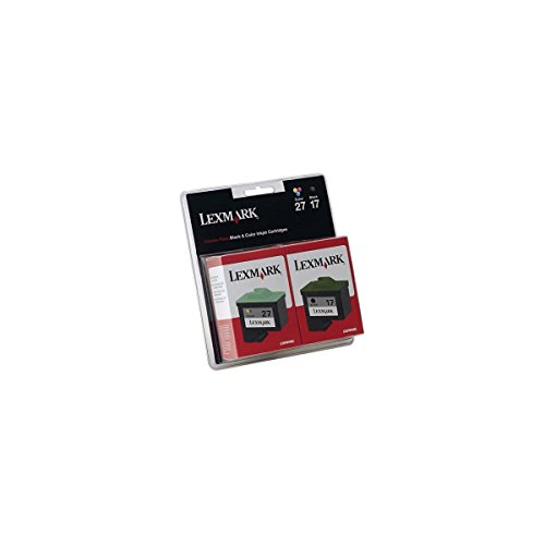 Lexmark Twin Pack #17 Black and #27 Color Print Cartridges-10N0595