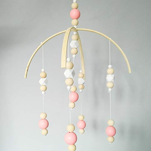 Wooden Beads Wind Chimes Nordic Style Kids Room Decor Hanging Wind Bell Pink
