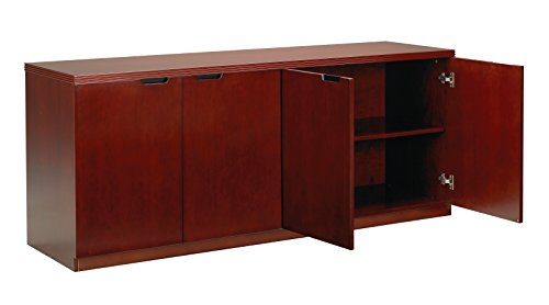 Mayline HDC2072C Luminary Series 4 Door Hinged Credenza, Cherry Veneer ()