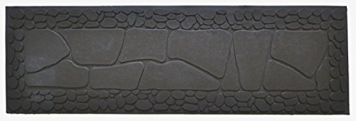 "Imports Decor Stone Rubber Step Mat, 33"" by 10"" by 1/4"""