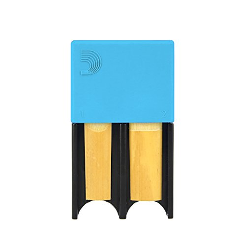 D'Addario Woodwinds Reed Guard for Bb Clarinet and Alto Saxophone, Blue