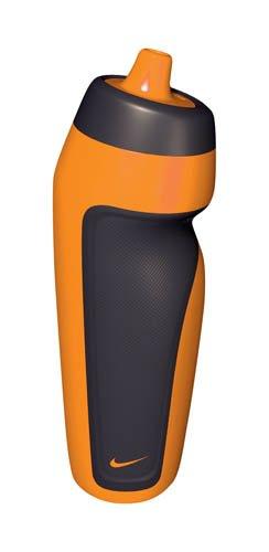 con mango color naranja brillante. Nike Botella de agua deportiva Color negro