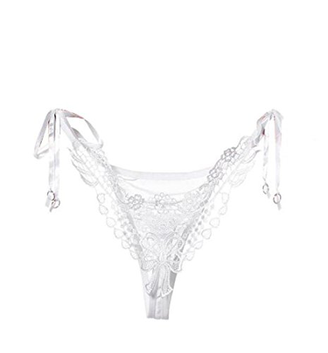 Sexy Lace Lady Briefs Lingerie, KOOZIMO Knickers G-string Thongs Panties Underwear (White)