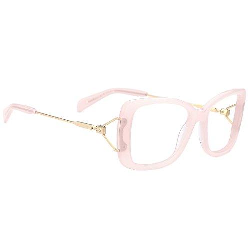 slocyclub Women Oversized Acetate Butterfly Eyeglasses with Metal - Butterfly Eyeglasses
