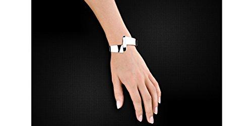 Canyon bijoux Bracelet manchette torsade en argent 925 passivé, 37.1g, Ø60mm