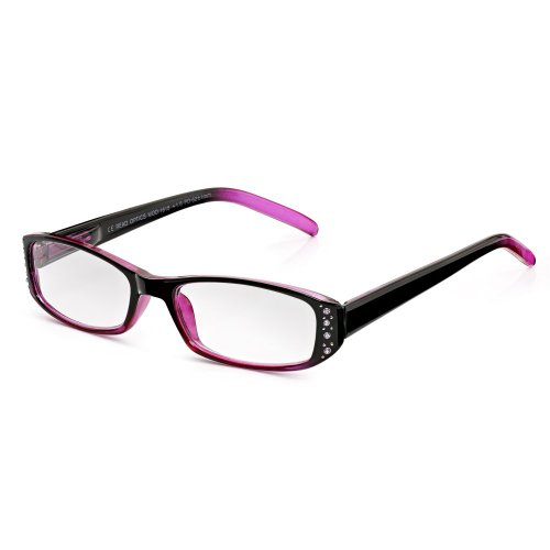 cc317218391 Read Optics Diamante Reading Glasses  Women s +2.00 in Crystal Blackberry  and Pink with Rhinestone Studs