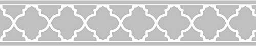 - Sweet Jojo Designs Gray and White Trellis Print Modern Lattice Wall Paper Border