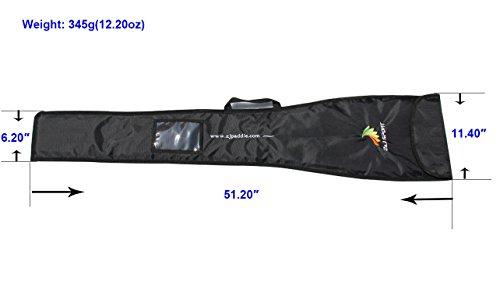 ZJ SPORT Black Bag For Detachable Adjustable Kayak Paddle