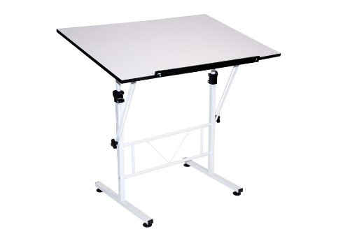 Drafting Table Surface (Martin Smart Art-Hobby Table, White with White Top, 24-Inch by 36-Inch Size Surface)