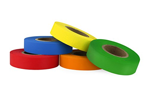 ChromaLabel Color-Code Labeling Tape Variety Pack | 5 Assorted Colors | 500 inch Rolls (1/2 inch) ()
